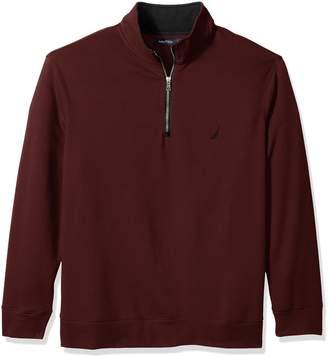 Nautica Men's Big and Tall Long Sleeve Fleece Quarter-Zip Knit