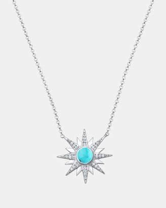 Swarovski Necklace Pendants Sun Astro Boho Howlite Crystals 925 Sterling Silver