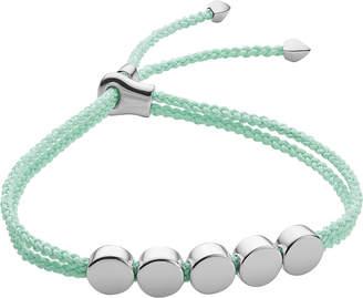 Monica Vinader Linear Bead sterling silver friendship bracelet