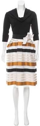 Paule Ka Long Sleeve Midi Dress w/ Tags