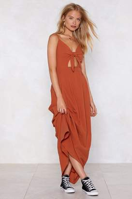 Nasty Gal Do Knot Disturb Maxi Dress