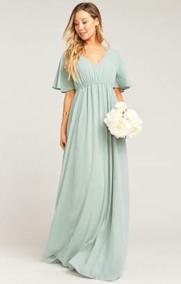 Show Me Your Mumu Emily Empire Maxi Dress ~ Silver Sage Crisp