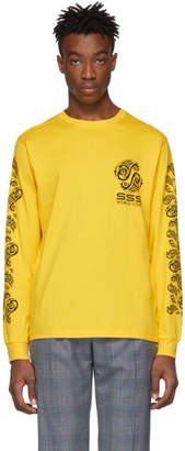 SSS World Corp Yellow Graphic Logo Long Sleeve T-Shirt