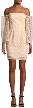 Keepsake Eyelet Mini Dress