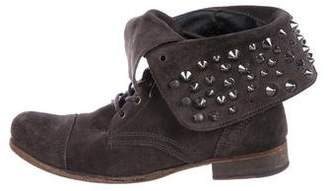 AllSaints Suede Spiked Ankle Boots