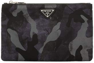 Prada camouflage-print zipped pouch