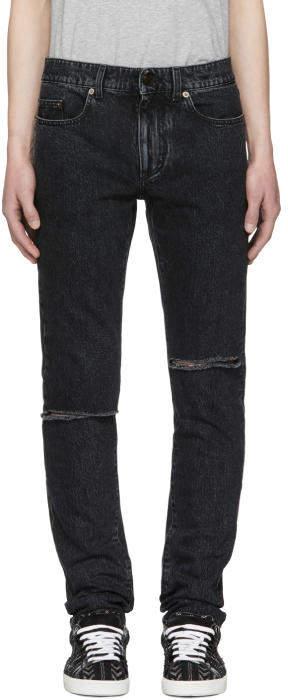 Saint Laurent Black Skinny Trash Jeans