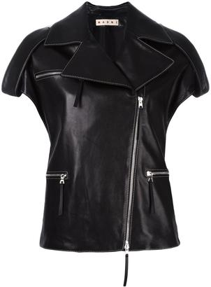 Marni leather biker gilet $4,070 thestylecure.com