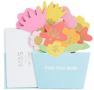 Marks and Spencer Mum Pop Up Gift Card
