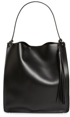 Sole Society Karlie Faux Leather Bucket Bag - Black $64.95 thestylecure.com