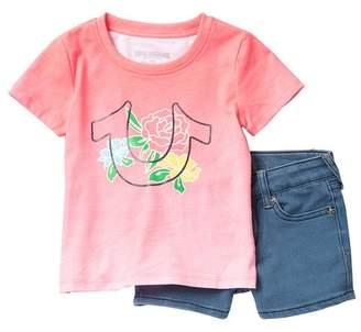 c6d011dd7c4a True Religion Horseshoe Tee   Shorts Set (Toddler Girls)