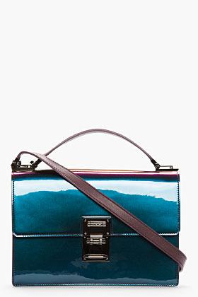 Thierry Mugler Purple iridescent Muglerette Medium Bag