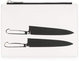 Calvin Klein double knife graphic clutch