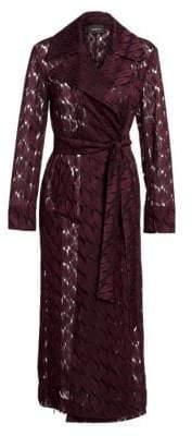 Akris Babylon Lips Embroidered Coat