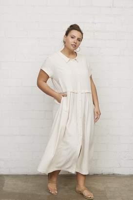 White Label Linen Andi Dress - Natural - Plus Size