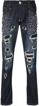 Philipp Plein Will Wait Super Straight Cut jeans