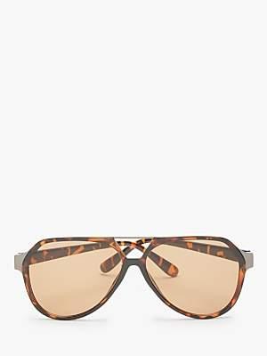 11e73338cc John Lewis   Partners Unisex Flat Aviator Sunglasses