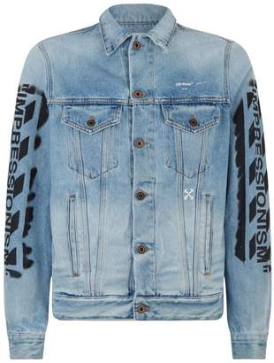 Off-White Spray Paint Denim Jacket