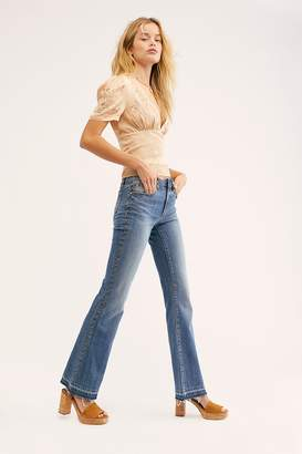 Driftwood Isabel Embroidered Flare Jeans