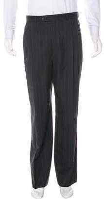 Burberry Pinstripe Flat Front Pants