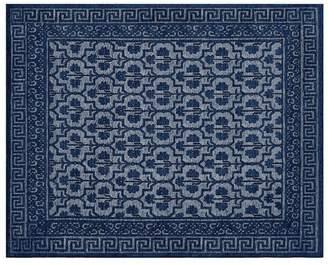 Pottery Barn Braylin Custom Tufted Rug - Tonal Blue