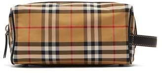 Burberry Vintage Check Nylon Wash Bag - Mens - Tan Multi
