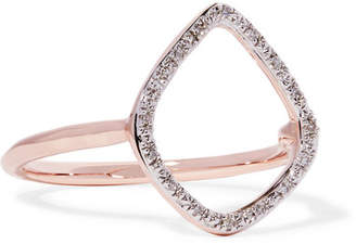 Monica Vinader Riva Rose Gold Vermeil Diamond Ring - P
