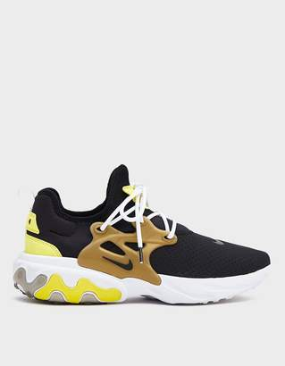 Nike React Presto Sneaker in Black/Black