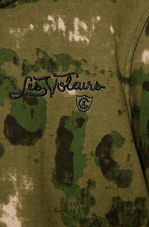 Camo Crooks and Castles The Les Voleurs Knit Zip Hoodie in French