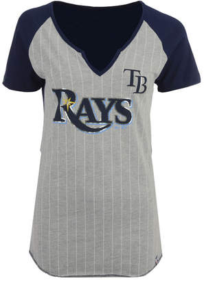 Majestic Women's Tampa Bay Rays From The Stretch Pinstripe T-Shirt