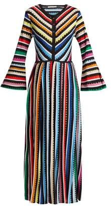 Mary Katrantzou Maya Striped Knitted Midi Dress - Womens - Multi
