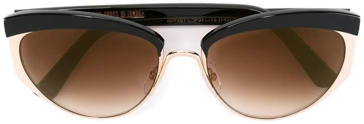 Cutler & Gross butterfly-shape sunglasses