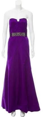 Reem Acra Strapless Embellished Dress