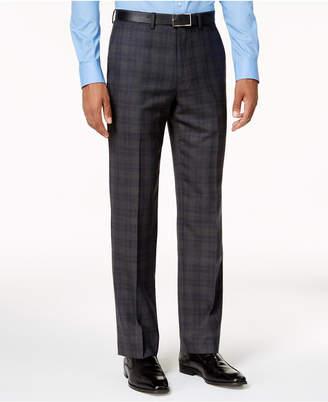 Ryan Seacrest Distinction Ryan Seacrest DistinctionTM Slim-Fit Gray & Blue Plaid Pants, Created for Macy's