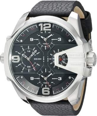 Diesel Men's DZ7376 Uber Chief Stainless Steel Leather Watch