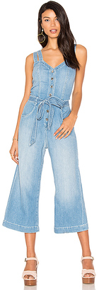 7 For All Mankind Culotte Jumpsuit in Blue $299 thestylecure.com