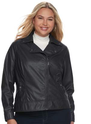 Moto J 2 Juniors' Plus Size J-2 Faux-Leather Jacket