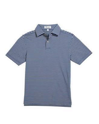 Peter Millar Boy's Comp Stripe Stretch Jersey Polo Shirt, Size XS-XL