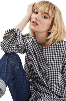 Women's Topshop Gingham Top $60 thestylecure.com