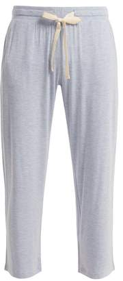 Hudson Skin Jersey Cropped Pyjama Trousers - Womens - Light Blue