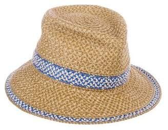 Eric Javits Embellished Straw Hat w/ Tags