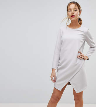 Asos Asymmetric Clean Shift Mini Dress