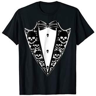 Faux Fake Tux Tuxedo Suit Lapel T-Shirt Tee For Halloween