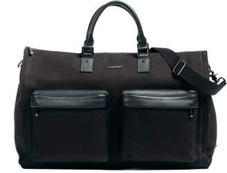hook + ALBERT Black Twill Garment Weekender bag
