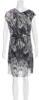 Helmut Lang Printed Knee-Length Dress w/ Tags