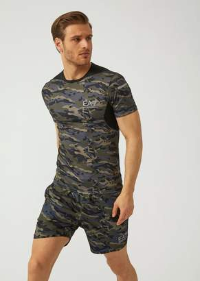 Emporio Armani Ea7 Camouflage Technical Fabric T-Shirt