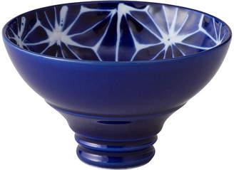 Japanese Porcelain 琉璃 麻の葉 手造り 平グイ呑