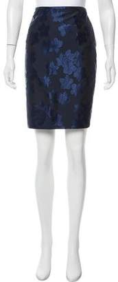 Armani Collezioni Patterned Knee-Length Skirt