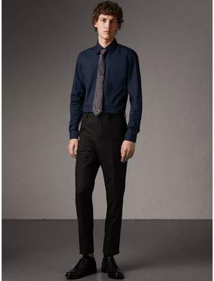 Burberry Slim Fit Stretch Cotton Shirt