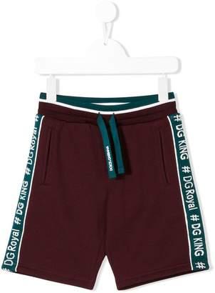 Dolce & Gabbana side panelled track shorts